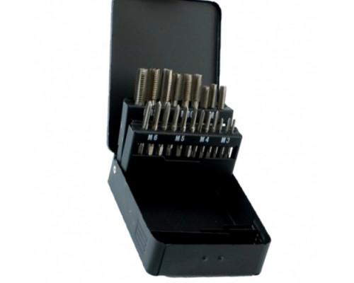 Набор метчиков и сверл M3-М12 (14 предметов) в металлической коробке